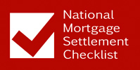 National Mortgage Settlement Checklist